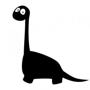 трафарет динозавра