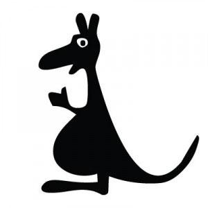 трафарет кенгуру