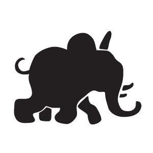 трафарет слона