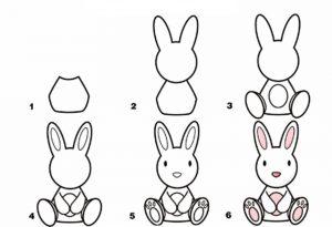 учимся рисовать зайца