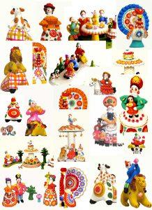 дымковские игрушки картинки