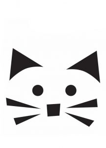 кот с усами трафарет