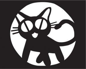 кот трафарет