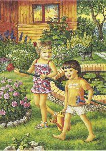 картинки дети летом