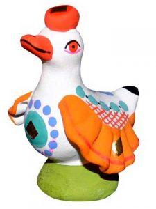 утка дымковская игрушка