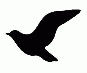трафарет птица