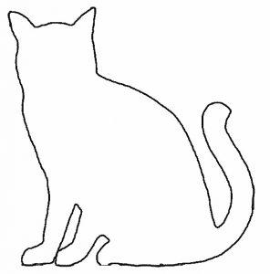 трафарет кот
