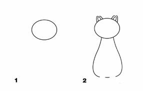 голова и туловище кошки