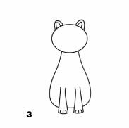 кошка с лапами