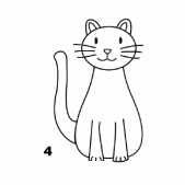 кошка с хвостом