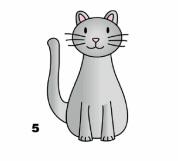 готовая кошка карандашом
