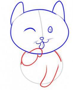передние лапы котенка