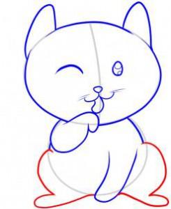задние лапы котенка