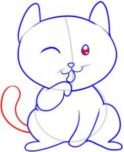 котенок с хвостом