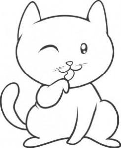 готовый котенок карандашом