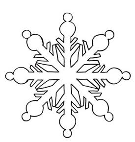 готовая снежинка карандашом
