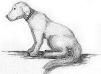 готовая собака карандашом