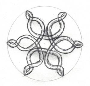 готовая снежинка-спираль