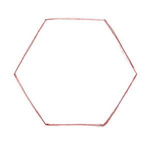 шестиугольник снежинки