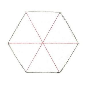 разделенный шестиугольник