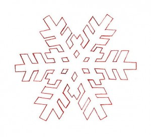 снежинка без контуров
