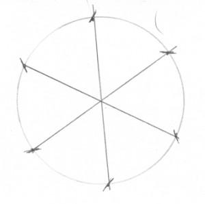 круг с линиями