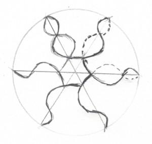 снежника со спиралями