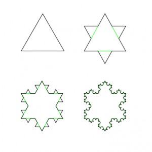 снежинка-треугольник