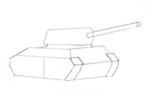 танк с башней и корпусом