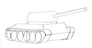 танк с гусеницами