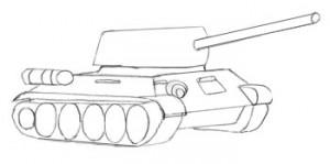 танк с деталями
