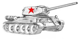 готовый танк Т34