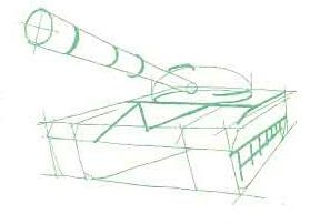 танк с пушкой и деталями