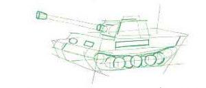 танк кв1с с люком и пушкой