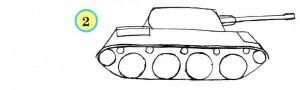 танк с пушкой и колесами