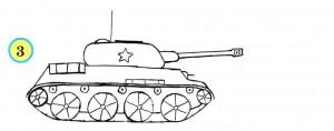 танк с гусеницами и люком
