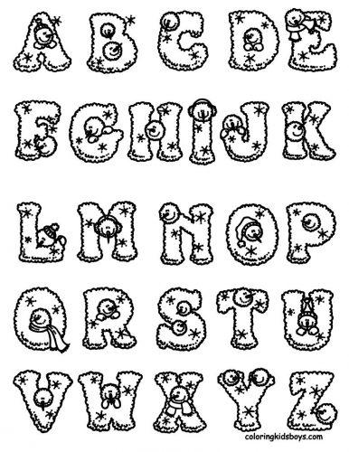 раскраска английские буквы