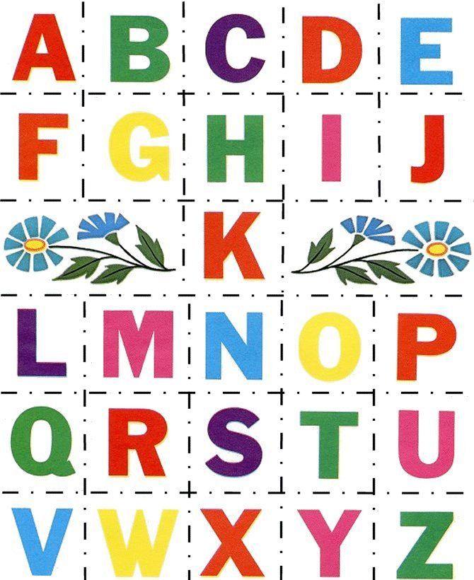 Английский алфавит в картинках для детей