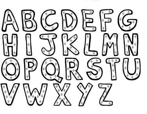 раскраска английский алфавит