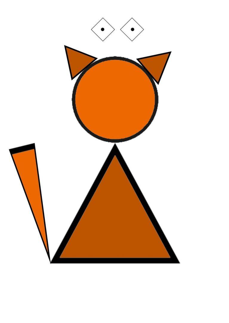 картинки с треугольником и животным отделки округлой