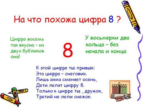 цифра 8 что напоминает картинки
