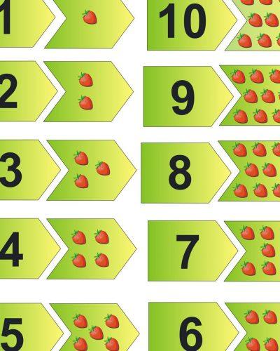цифры и точки для детей