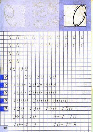 цифра 0 пропись картинка