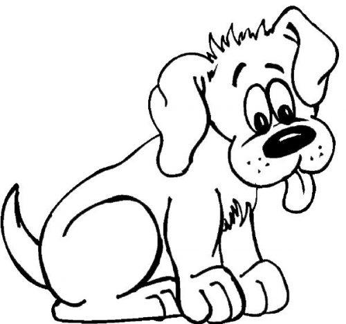 собака картинка раскраска