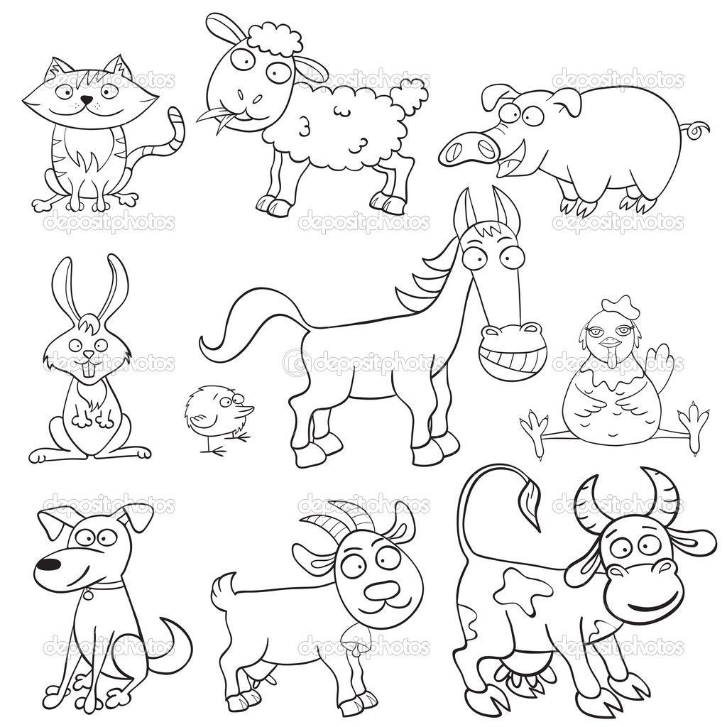 comic barnyard animals coloring pages - photo#8