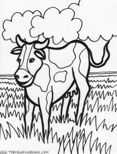 раскраска корова для детей