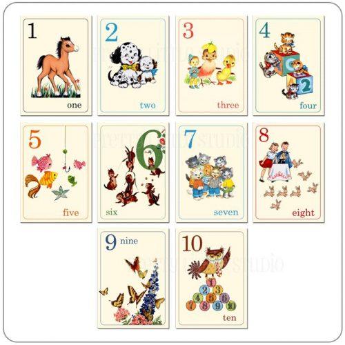 карточки цифры для дошкольников