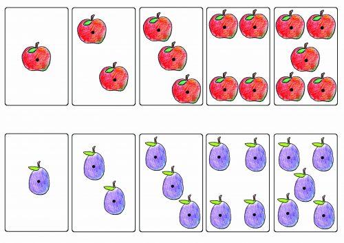 карточки для счета в картинках для детей