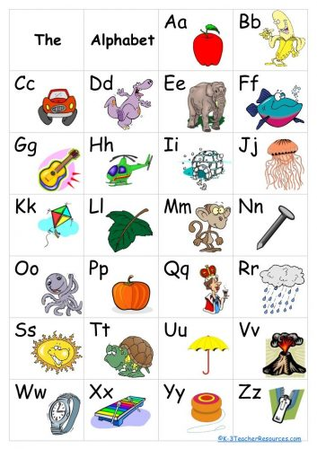 буквы английского алфавита в картинках