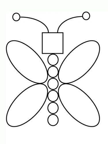 Геометрическая аппликация бабочка картинка
